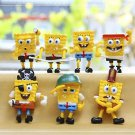 7pcs Set Mini Figures Spongebob PVC Action Figures Collectibles Toys Desk Décor