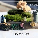 My neighbor totoro Theater Ver. Figure Season Spring Fairy Garden Display Toy