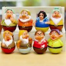 8pcs Set Mini Figures Snow white Seven Dwarfs Tumbler Toys Collectibles Gift Fan