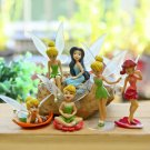 6pc Set Fairy Girls Collectible Toys Figure Fan Gift Fairy Garden Miniatures