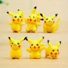 6PC Pokemon Picacho Figure Toys Collectibles Fairy Garden Miniature Decoration