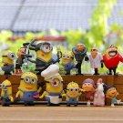 14pcs Set Mini Figures Despicable Me Toys Collectibles Fairy Garden Miniature