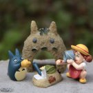 4pc Totoro Sandbeach May Blue Cat Figure Fairy Garden Toy Display Decor
