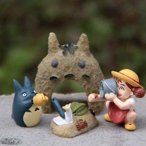 4pc Totoro Sandbeach May Blue Cat Figure Fairy Garden Toy Display Decor