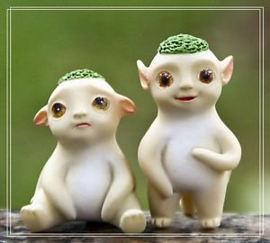 2PCS Mini Hoopa Baby fairy Figure Fairy Garden  Miniature Minions Succulent Deco