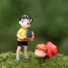 2Pcs Boy Goldfish Figure Fairy Garden Anime Miniature Figure toy Collectible