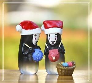 2pc Set spirited away Ghost Men Xmas Gift Figure Fairy Garden Miniature Toys