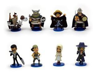 8pcs Set Mini Figures One Piece Luffy Collectibles Toys Desk Décor Fairy Garden