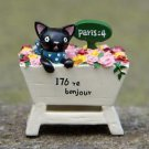 Black Cat Rose Figurine Miniature Fairies Garden Toy For Terrarium Succulent