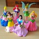 6pc Disney Fairies Snow White Cinderella Belle Figurine Toy Collectibles Cake