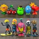 10pcs Set Mini Figures Toys Plants vs Zombies PVC Action Figures Collectibles