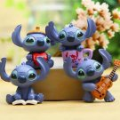 4 Stitch Figure Mini Garden Figurine Gardening Suppliers Fairy Garden Toy Gift