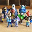12 Disney Figure Zootopia Collectibles Toys Mini Figurine Gift Fans Garden Decor