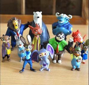 12 Disney Figure Zootopia Collectibles Toys Mini Figurine Gift Fans Garden Decor