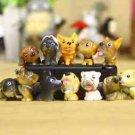 12X Resin Dogs Gardener Figurine Zakka Display Home Decor Fairy Garden Accessori