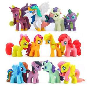 12pc Vintage Horse My Little Pony Mini Figures Toy Collectibles Garden Display