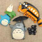 4pc Mei Totoro Coral Figurine Figure toy Collectibles Succulent Display Decor