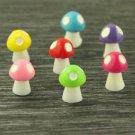 10 Mixed ColorfulSpotted Mushroom figure fairy garden miniature  Decor  S
