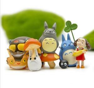 6pc Home Decor Totoro May Coal Bus Set Figure Toys Collectibles Garden Fairies