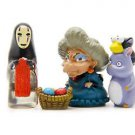 Spirited Away No face men Grandmother 4pc Set Figure Miniature Fairies Figure