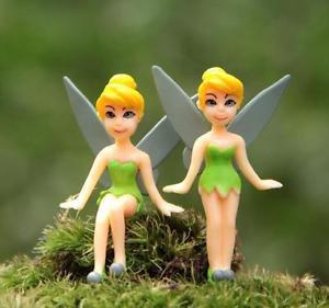 2pc Fairy Tale Girls Figure Mini Garden Figurine Toy Gardening Suppliers