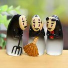 3pc Broom No Face Ghost Miniature Figurine Fairy Garden Toy Miniature Display