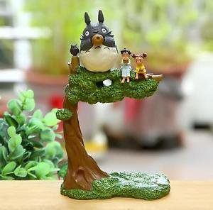 Fairy Garden Home Decor satuki Mei Totoro on Top Tree Figure Toy Set Display