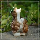Mother and Daughter Hedgehog w/ Garlanded Figure Toy Fairy Garden Display Decor