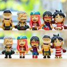 5pc One Piece Luffy Figurine Zakka Display Figure Toy Collectible  Children Gift