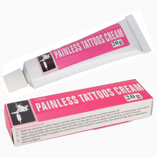 New tattoo numbing painless tattoos cream 20g for Best cream for new tattoo