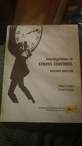 Investigations in Stress Control 16 Practical Activities Workbook 1980