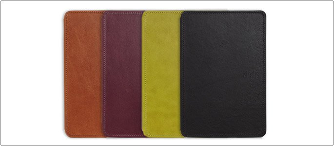 Amazon Official Kindle Touch Leather Cover - Black