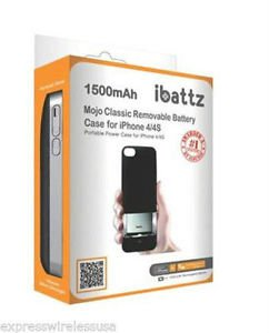 ibattz Mojo Classic 1500 mAh Removable Battery Case for iPhone 4 4s New