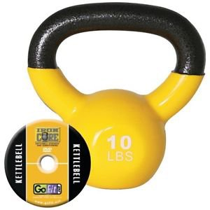 GOFIT GF-KBELL10 - 10 LBS KETTLEBELL WITH TRAINING DVD