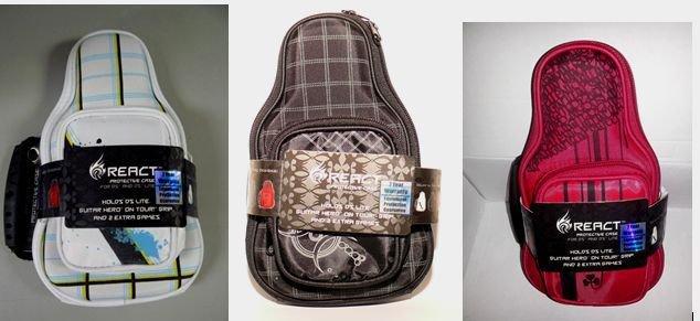 React Nintendo DS Lite Guitar Bag Carrying Case Black, Red, or White GH hero