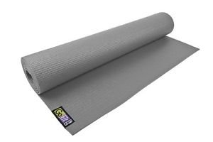 GoFit GF-YOGA Yoga Mat w/ Yoga Posture Poster GRAY