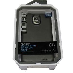 OEM INCIPIO SAMSUNG Galaxy S5  Feather Ultra Thin Snap-on Case GRAY/ BLACK
