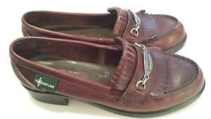 EASTLAND BROWN LEATHER LOAFERS WOMEN'S SIZE 7 1/2 M (186638)