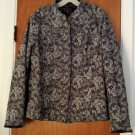 Christopher & Banks Women's Mandarin Style Reversible Jacket Green Gray Size XL