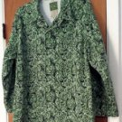 Rare Vintage Womens Green Floral Espirit Denim Jacket Size M Cut Out Underarms