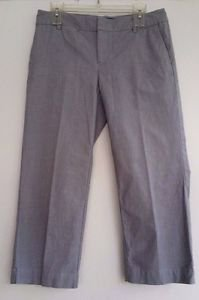 Gap Womens Gray Curvy Fit Cropped Leg Pants Capri's Stretch Cotton Size 6