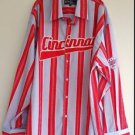 Athletic Authentic Mens Big & Tall Striped Shirt Cincinnati Allstar Size 5XL