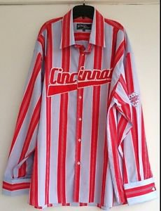 Athletic Authentic Mens Big & Tall Striped Shirt Cincinnati Allstar Size 5XL