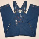 Mandal Bay Womens Chicken Patch Denim Jean Carpenter Bib Overalls Capri Sz M NWT