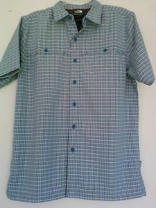 The North Face Green Plaid Shirts Size Small Excellent Used Condition