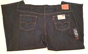 Levi's 559 Mens Big & Tall Denim Blue Jeans Relaxed Straight NWT $68 Sz W52 L30