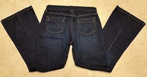 Womens Old Navy High Rise Stretch Denim Blue Jeans Bootcut Size 8 W32 L31