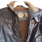 HAWKE & CO Adventure legends Womens size 7 Brown Leather Motorcycle Jacket