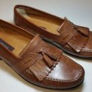 Florsheim kiltie tassel brown leather loafers Slip On Shoes Mocs Dress size 12 D