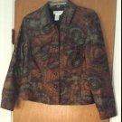 Coldwater Creek Womens Geometric Print Jacket Coat Size PM Trucker Style